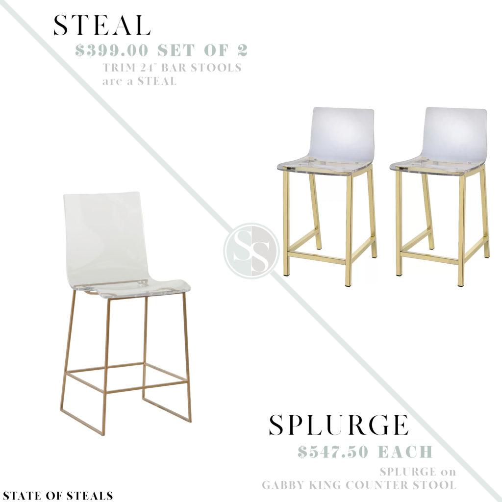 Astonishing Acrylic Counter Stools State Of Steals Inzonedesignstudio Interior Chair Design Inzonedesignstudiocom