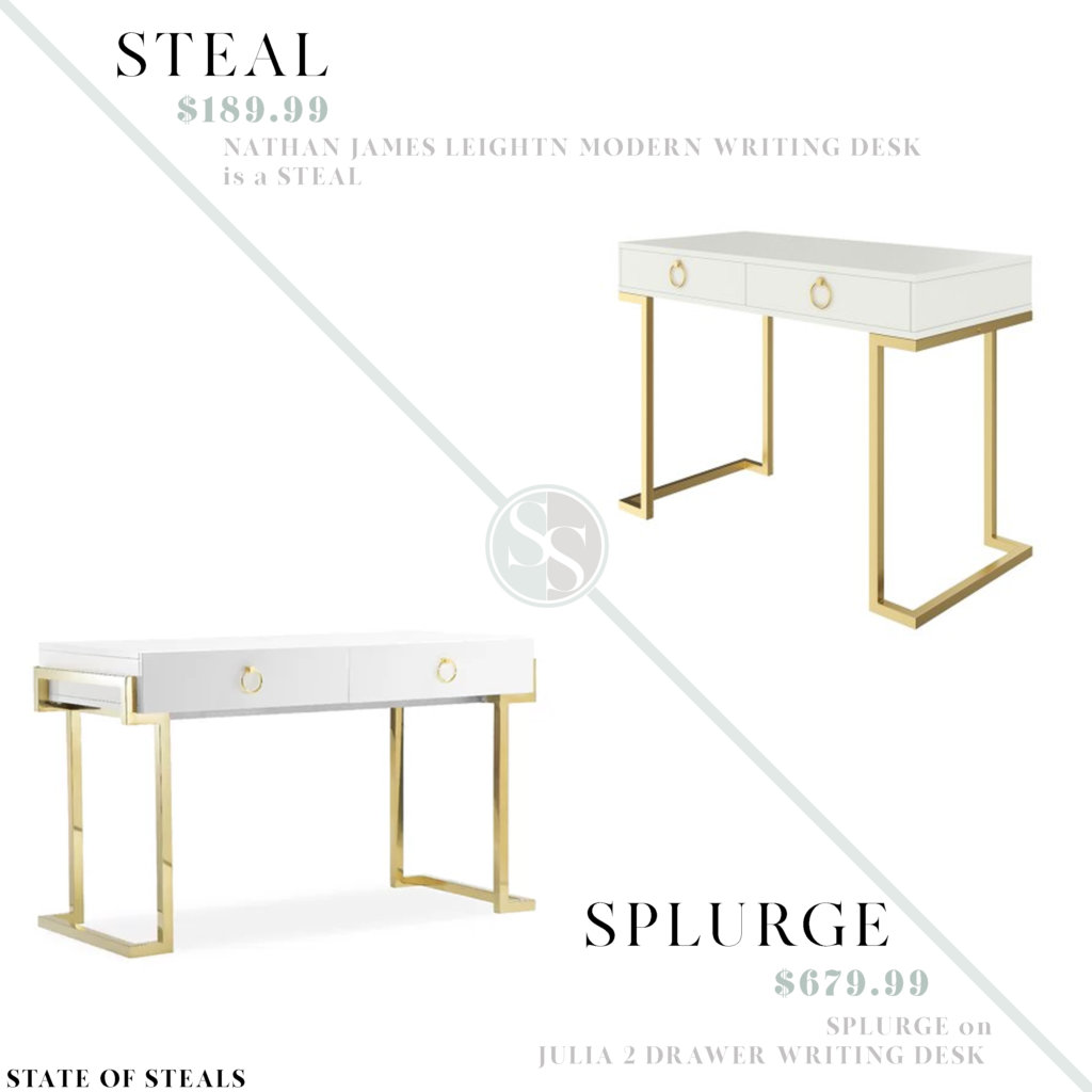White Lacquer Writing Desk State Of