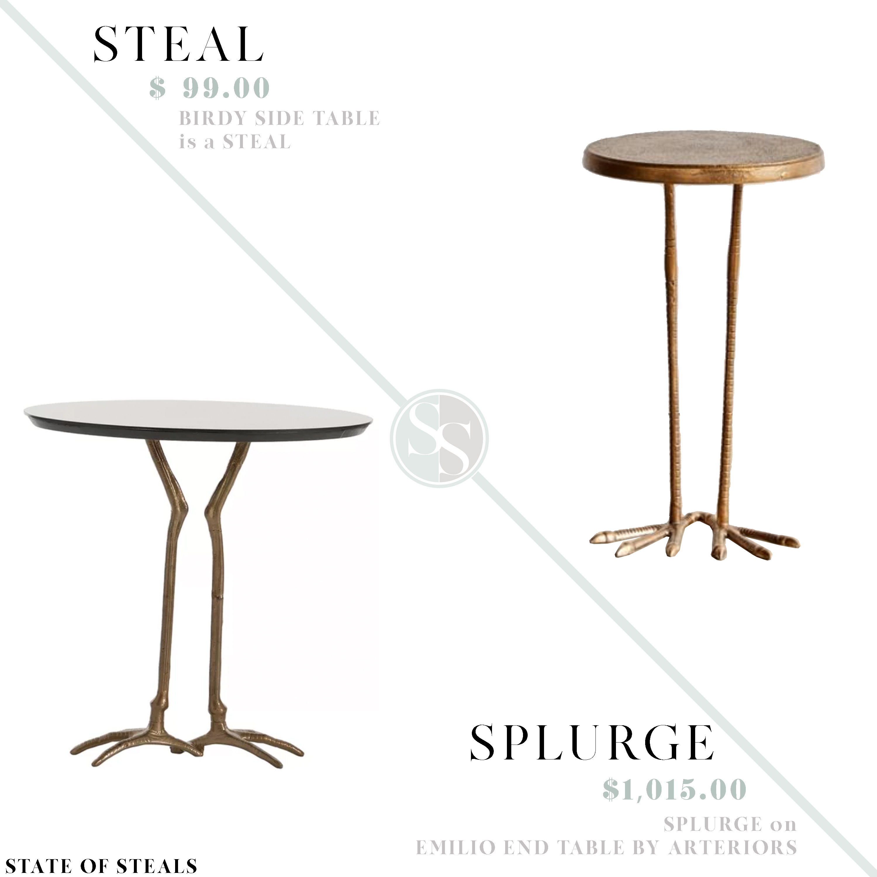 Bird Side Table Look For Less State Of Steals
